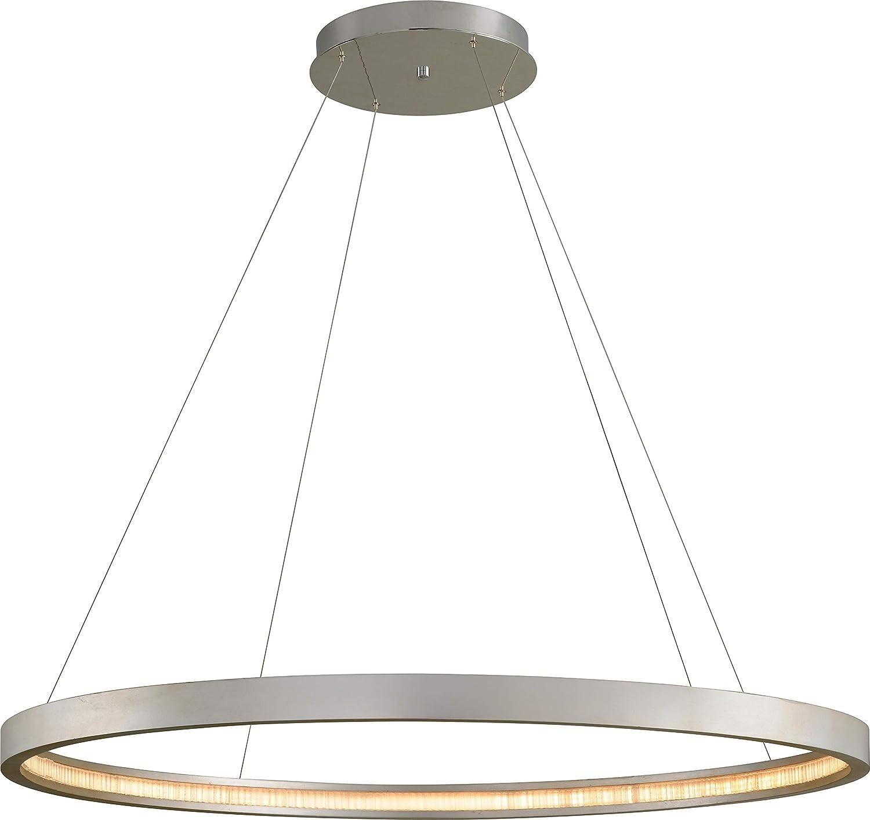 Corbett 285 44 Jasmine Pendant 1 Light Led 128 Watts Silver Leaf Amazon Com