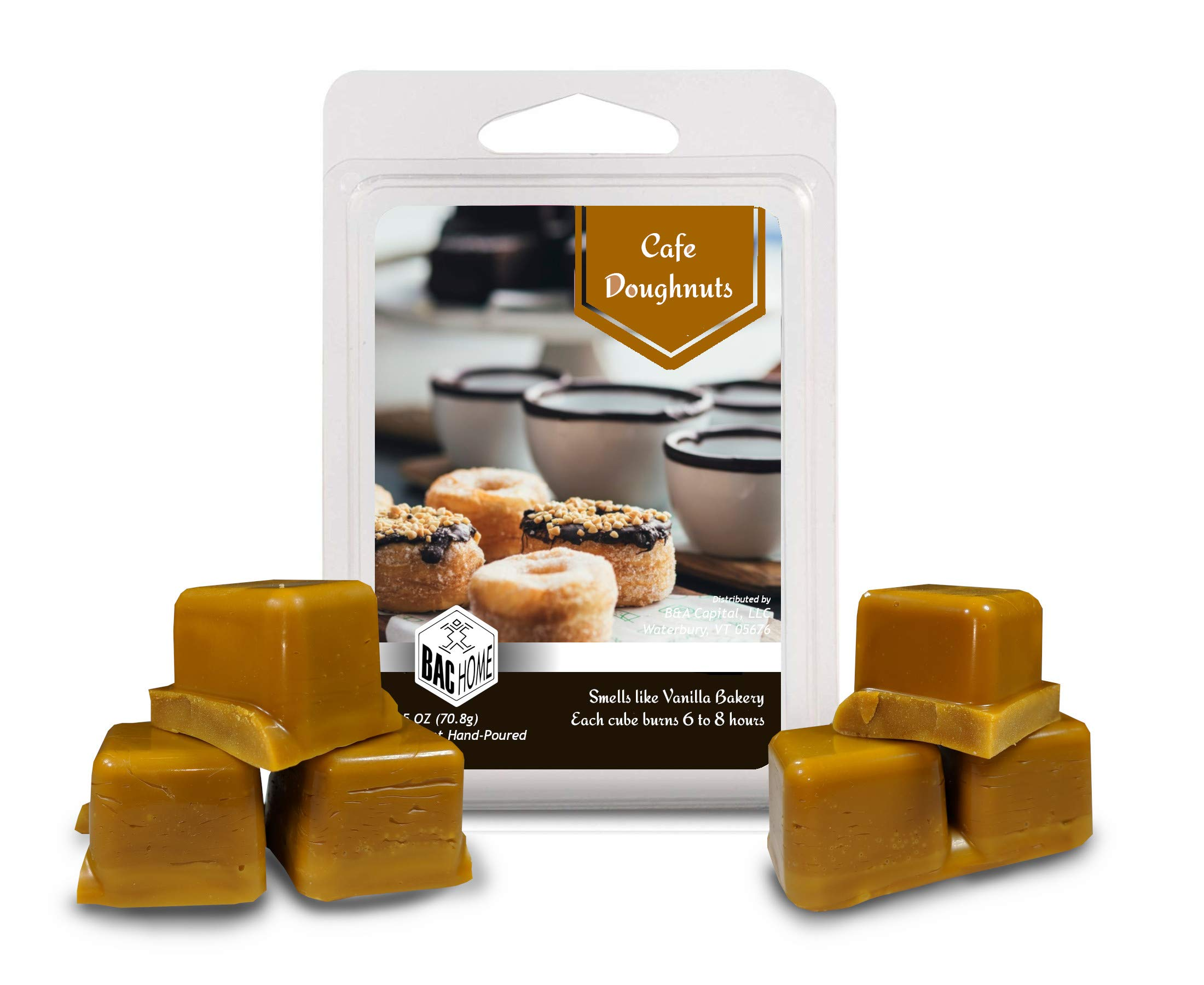 4 Pack - Cafe Bakery Soy Blend Scented Wax Melts Wax Cubes, 10.0 oz, [24 Cubes] with Coffee Shop, Blue Berry Scone, Maple Pumpkin Muffin and Cafe Doughnuts by BAC Home (Image #3)