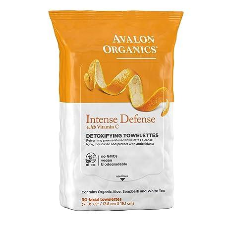 Defensa intensa, desintoxicante Toallitas, con vitamina C - Avalon Organics