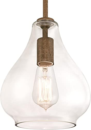 Westinghouse Lighting 6356800 One-Light Pendant, Barnwood