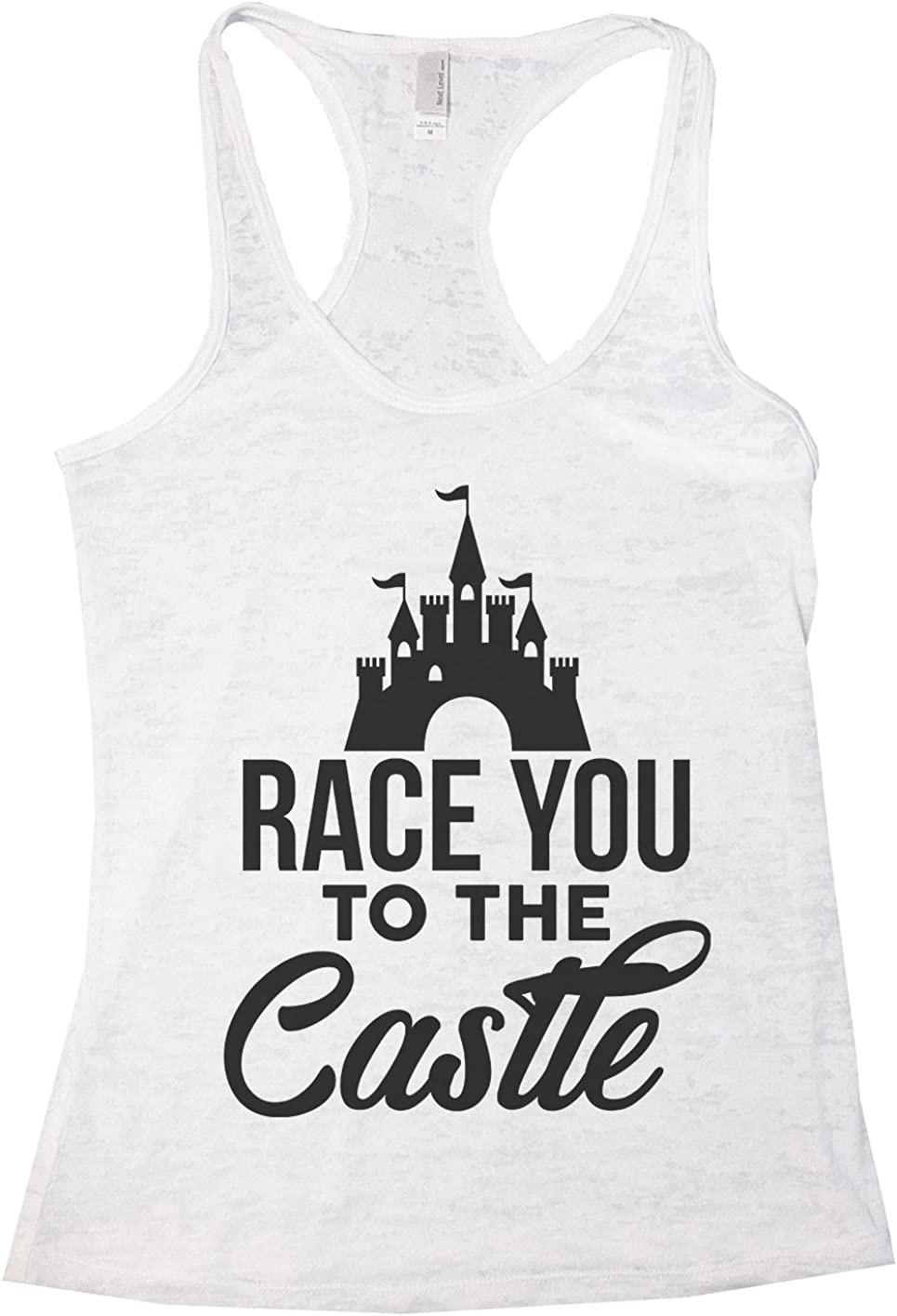 Amazon Com Womans Burnout Tank Top Race You To The Castle Disney Worlds Tank Top Clothing