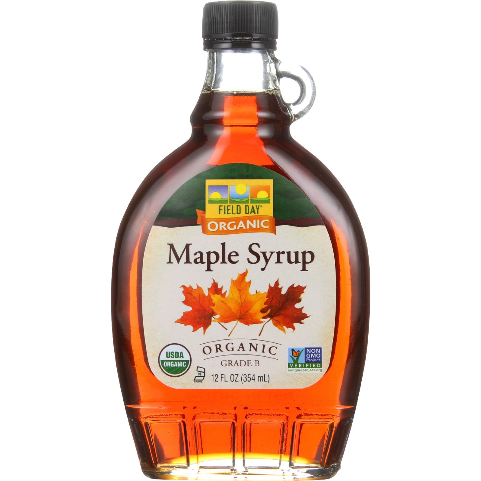 Field Day Maple Syrup Organic Grade B, 12 Ounce, 12 Count by Field Day