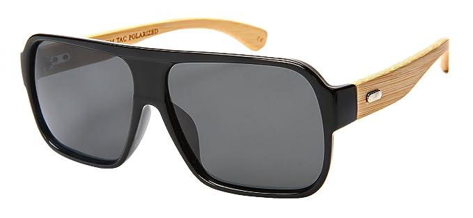Amazon.com: Edge i-wear Retro Cuadrado (bambú) anteojos de ...
