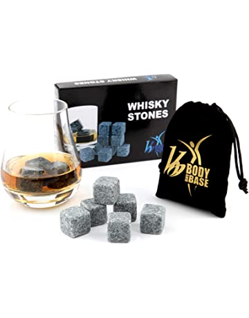 b366ec903f Whisky Whiskey Sipping Stones Gift Set of 9 Natural Soapstone and Granite  Chilling Rocks with