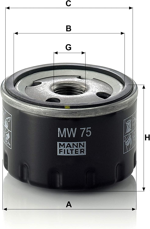 Pour motos MANN-FILTER MW 75 Original Filtre /à huile
