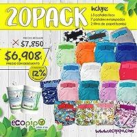 Paquete 20 Pañales Ecológicos De Tela Ecopipo