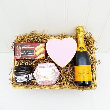 Miniatura Veuve Clicquot Champagne & bandeja de mimbre Los dulces - ideas del regalo para -