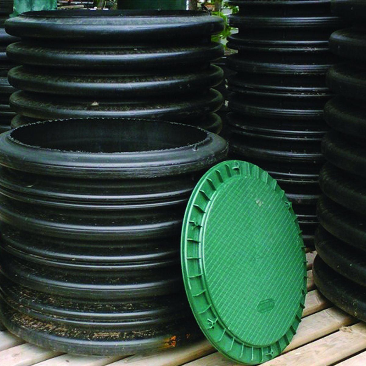 Polylok 3007-HDC 18'' Heavy Duty Septic Cover for Plastic Corrugated and Ribbed Pipe by Polylok