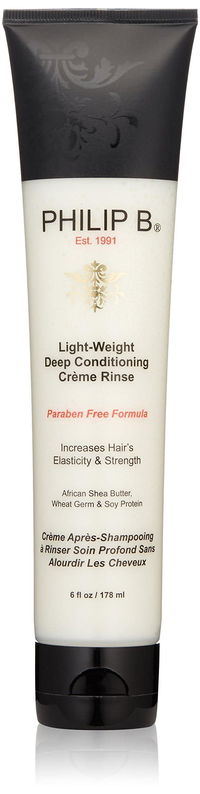 PHILIP B Light-Weight Deep Conditioning Cream Rinse Conditioner, Paraben Free Formula, 6 fl. oz.