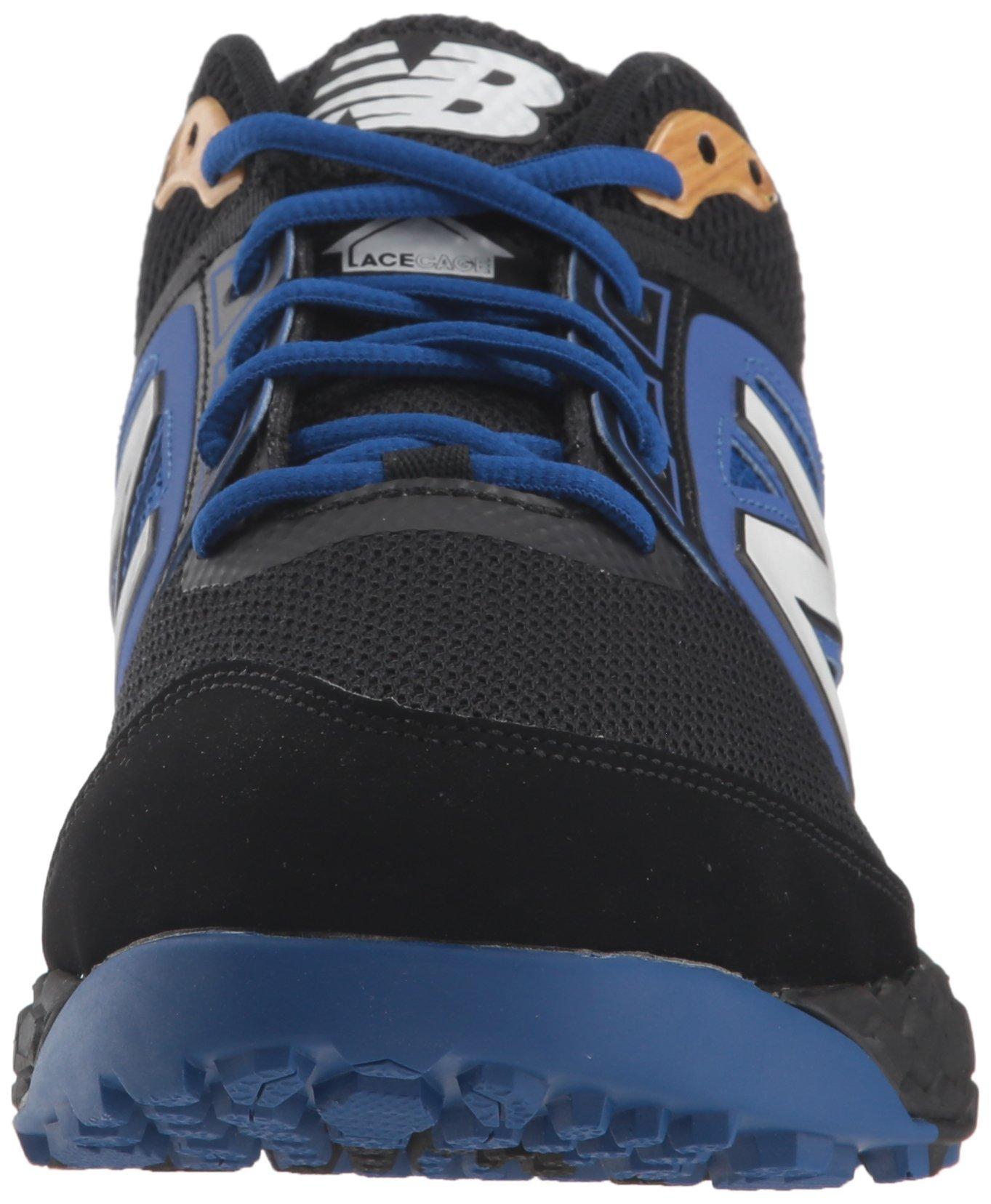 New Balance Men's 3000v4 Turf Baseball Shoe, Black/Blue, 5 D US by New Balance (Image #4)