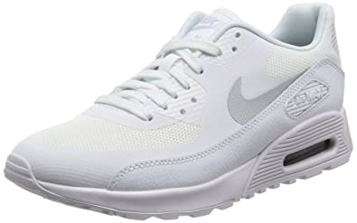 official photos ad804 8ca9d Nike WMNS Air Max 90 Ultra 2.0, Sneakers Basses Femme, Blanc Cassé MTLC  Platinum