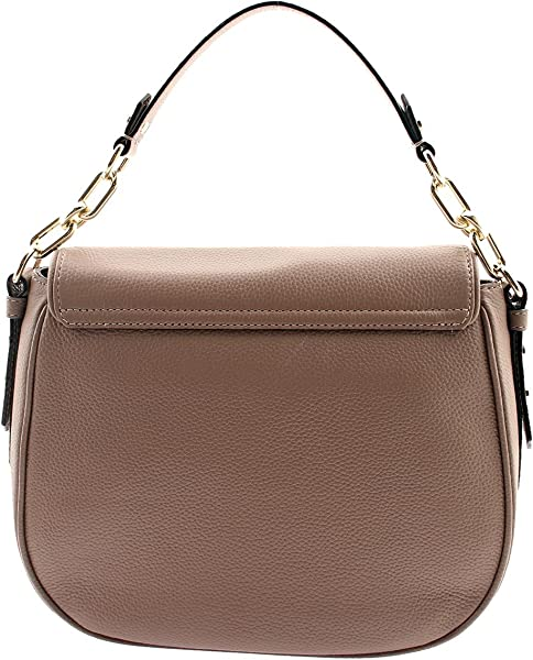 4cd07ba5a95e ... Mulberry Street Alecia Pebbled Leather Shoulder Bag in Porcini. Back.  Double-tap to zoom