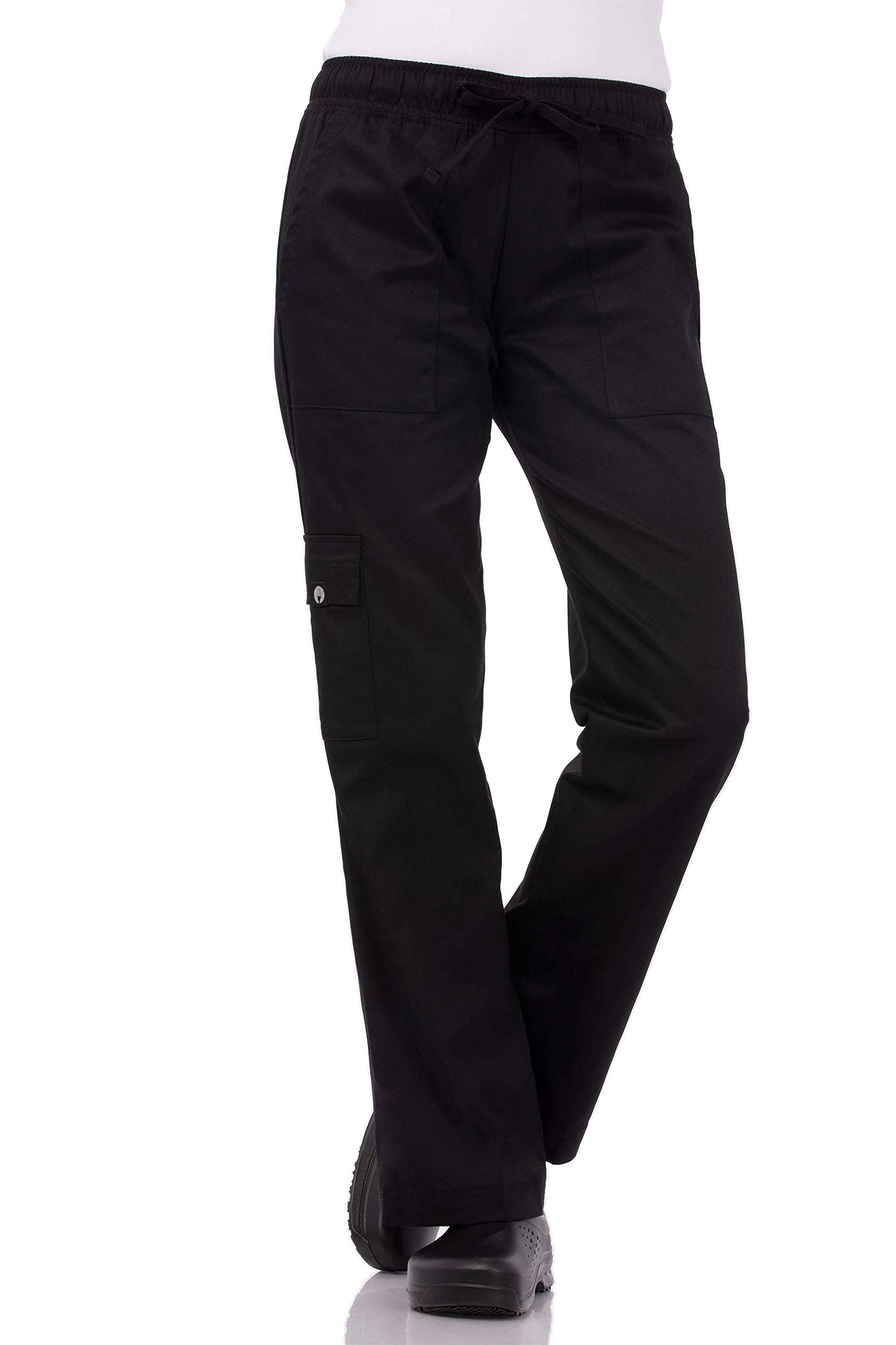 Chef Works Women's Cargo Chef Pants, Black, Small by Chef Works