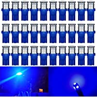 Alopee 30-Pack Blue Replacement Stock #: 194 T10 168 2825 W5W 175 158 Bulb 5050 5 SMD LED Light,12V Car Interior…
