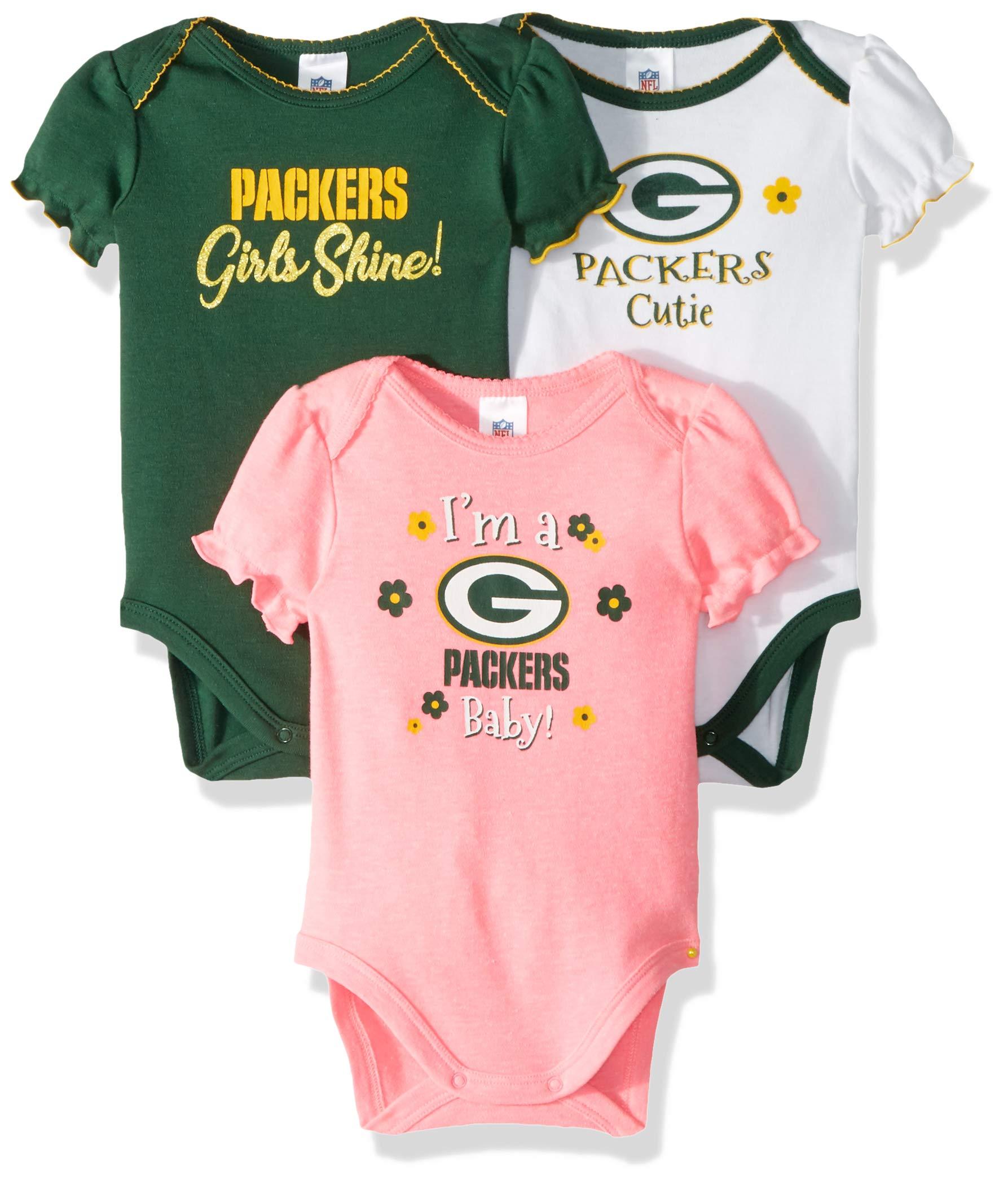 Gerber Childrenswear Green Bay Packers 2018 Girls 3 Pk Bodysuits