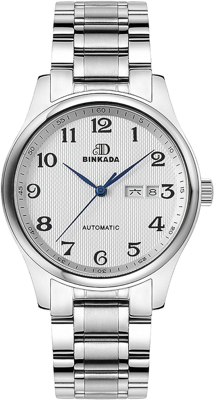 BINKADAファッションself-motionホワイトダイヤルメンズ腕時計# 7001b01 – 1 B00Y7HJV34