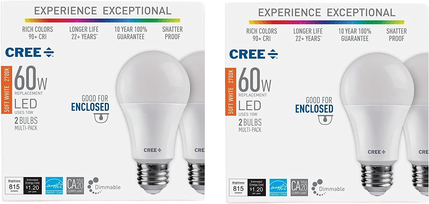 A21 Dimmable LED Light Bulb Lot of 1 24 Cree 75W  Soft White 12 6 2700K 4