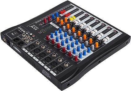 Olibelle Table De Mixage Table De Mixage Audio 6 Canaux Table De