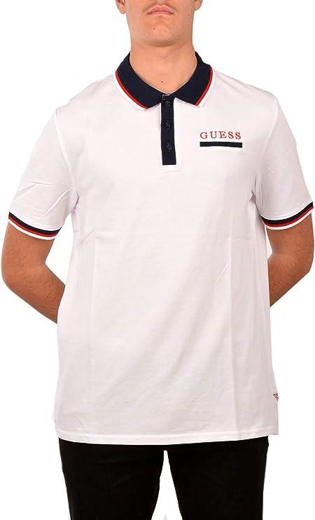 Guess UOMO Polo Bianco Mod. M01P44 K8510: Amazon.es: Zapatos y ...
