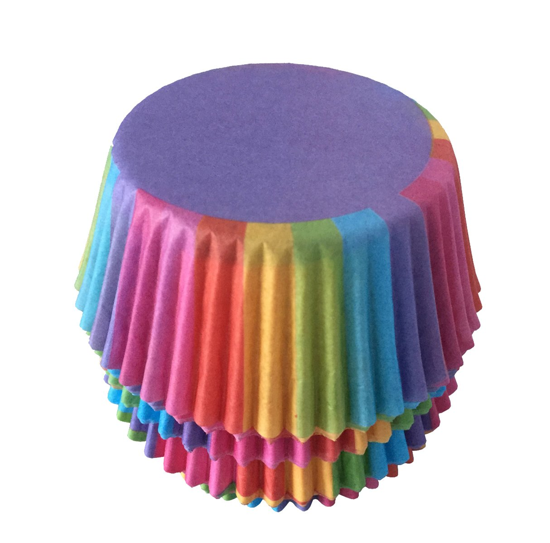 Moldes de Papel para Magdalenas Color Aleatorio ZUMUii Butterme Standard 100pcs