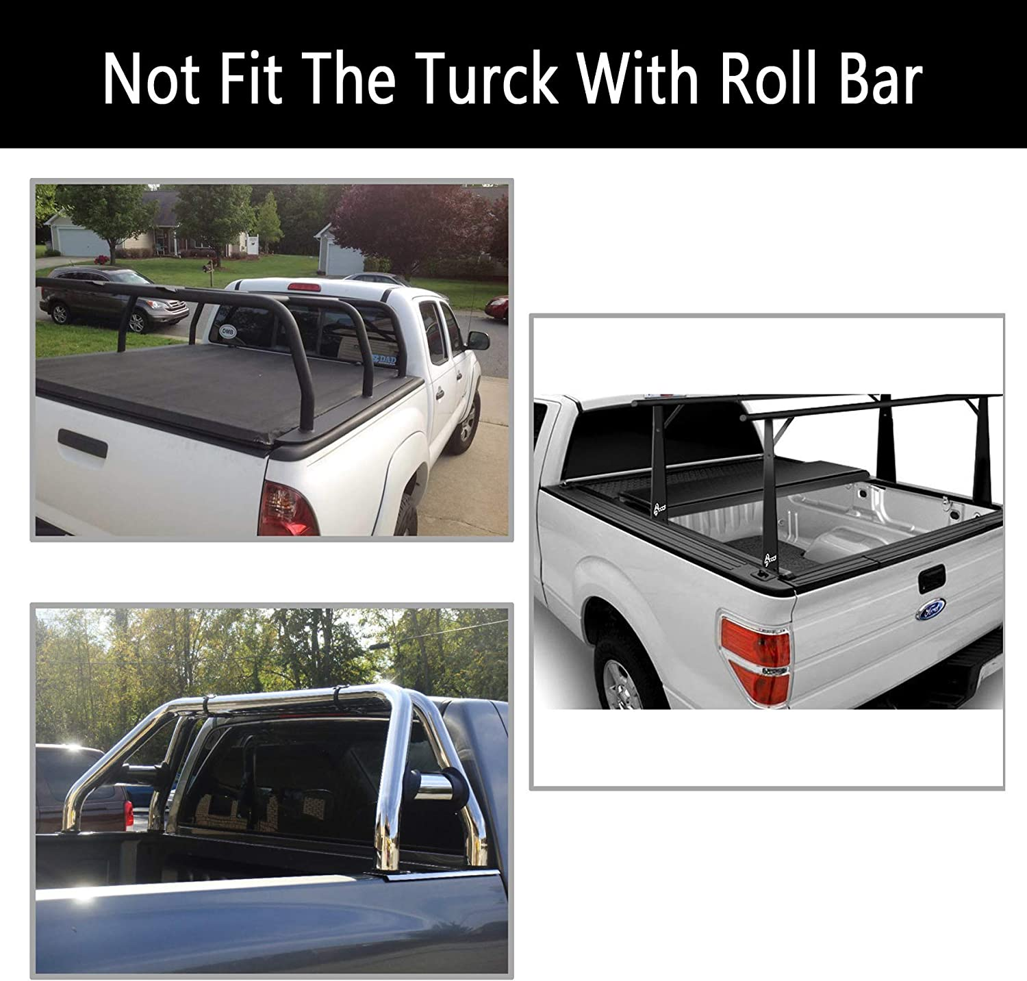 JJ 5ft Bed Roll up Lock Waterproof Tonneau Cover