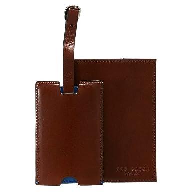 Ted Baker London - Etiqueta para equipaje Hombre Marrón Tan Brown Talla única: Amazon.es: Ropa y accesorios