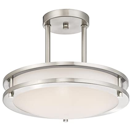 Westinghouse Lighting 6400900 Dimmable Led Indoor Semi-Flush Mount Ceiling Fixture, 11.88