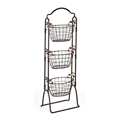Gourmet Basics by Mikasa Harbor 3-Tier Wire Market Basket