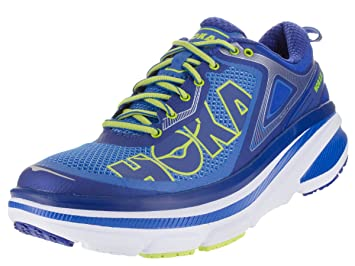 Hoka One One Mens Bondi 4 Running Sneaker Shoe, Directoire Blue/True Blue,