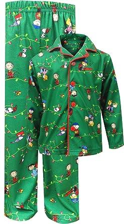 peanuts boys charlie brown christmas traditional pajama 45