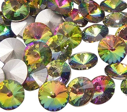 Green Glass Bead Candy Strip Oval Shape 18 mm DIYJewelry Craft Making  5 pcs