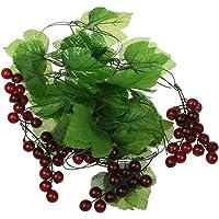 SODIAL (R) 2x vid uvas corona de frutas