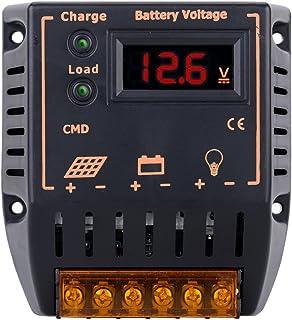 Walmeck Solar Panel Regler PWM Laderegler mit LCD Display 10A 12V/24V