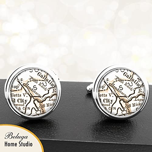Henderson Tennessee Map.Amazon Com Handmade Antique Map Cuff Links Henderson Tn Usa City