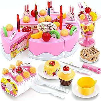Henmerry Diy Schneiden Geburtstagskuchen Kuche Essen Spielzeug