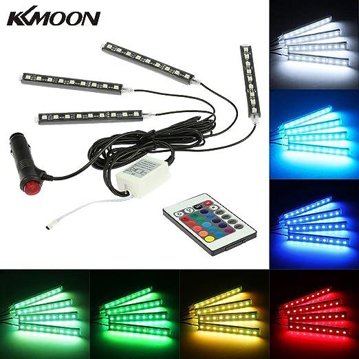 12 opinioni per KKmoon 4 in 1 Senza Fili Telecomando LED Auto Atmosfera Luci DC 12V Decorazione