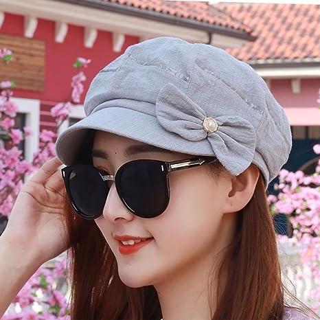 c0b19ce1f12f7 RangYR Sombrero De Mujer Sra. Cap Gorra De Primavera Y Verano Fina Visera  Transpirable Gorra