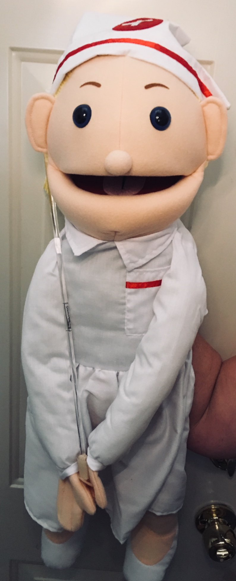 28'' Blonde Nurse Puppet, Full Body, Ventriloquist Style Puppet by Puppets4u (Image #4)