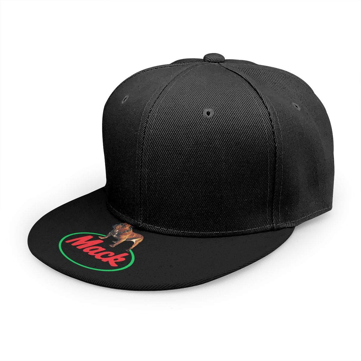 Adjustable Women Men Ma-ck Trucks Print Baseball Cap Flat Brim Cap Hats Hip Hop Snapback Sun Hat Boys Girls Black by Apolonia