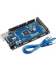ELEGOO Mega2560 R3 Tarjeta Placa con Microcontrolador Basada en el ATmega2560 ATmega16U2 con USB Cable Azul Versión Mega Kit