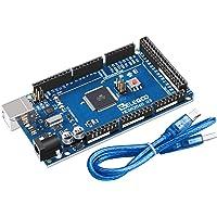ELEGOO Carte Mega 2560 R3 ATmega2560 ATMEGA 16U2 Board Bleu avec Câble USB(Bleu)