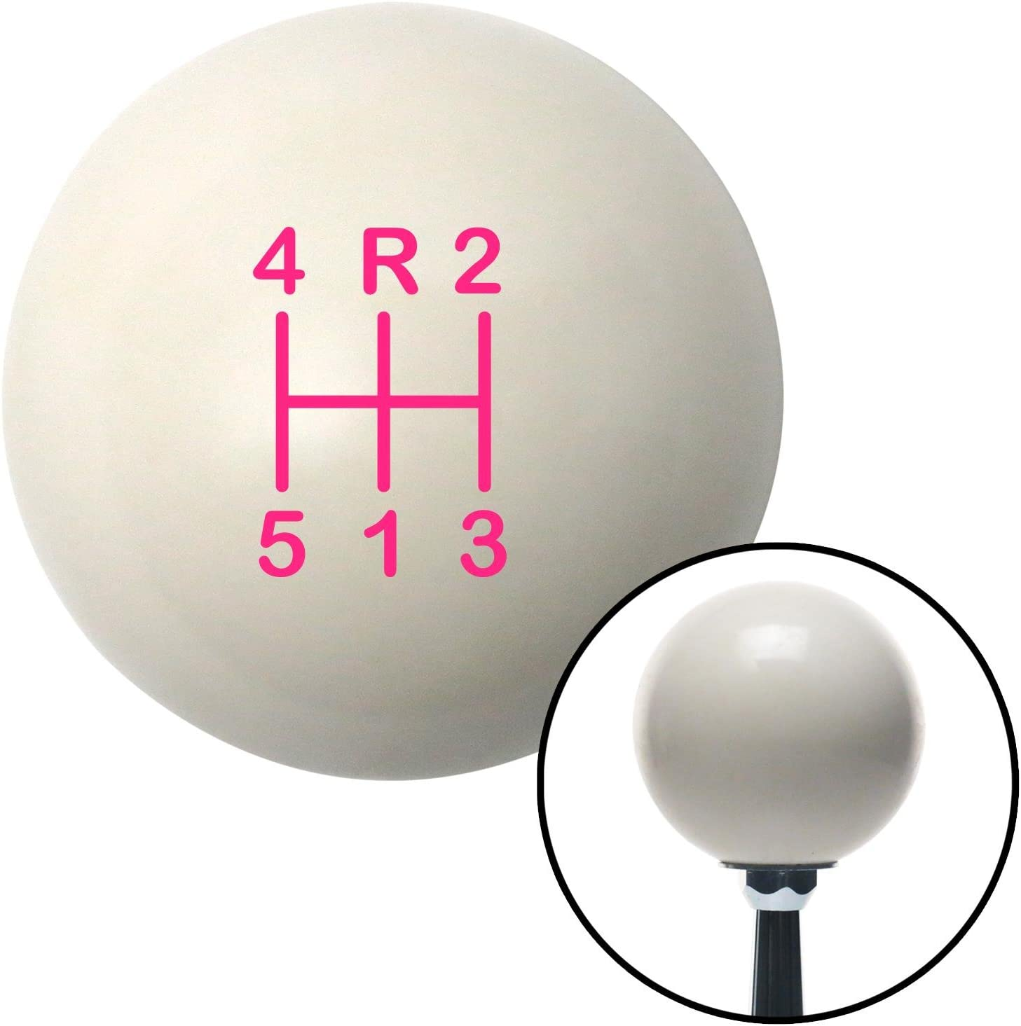 American Shifter 76679 Ivory Shift Knob with M16 x 1.5 Insert Pink Shift Pattern 48n
