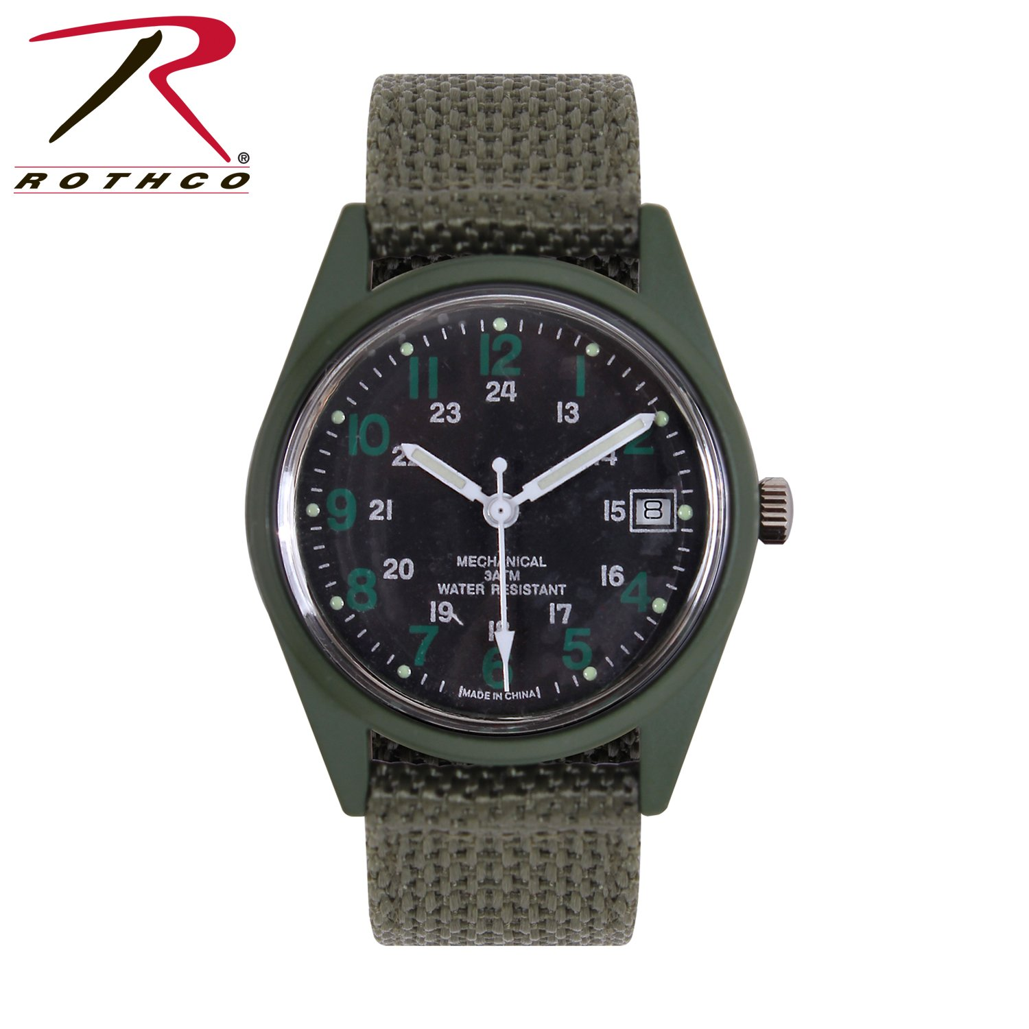 Rothco GI Type Vietnam Era Wind Up Watch, Olive Drab by Rothco