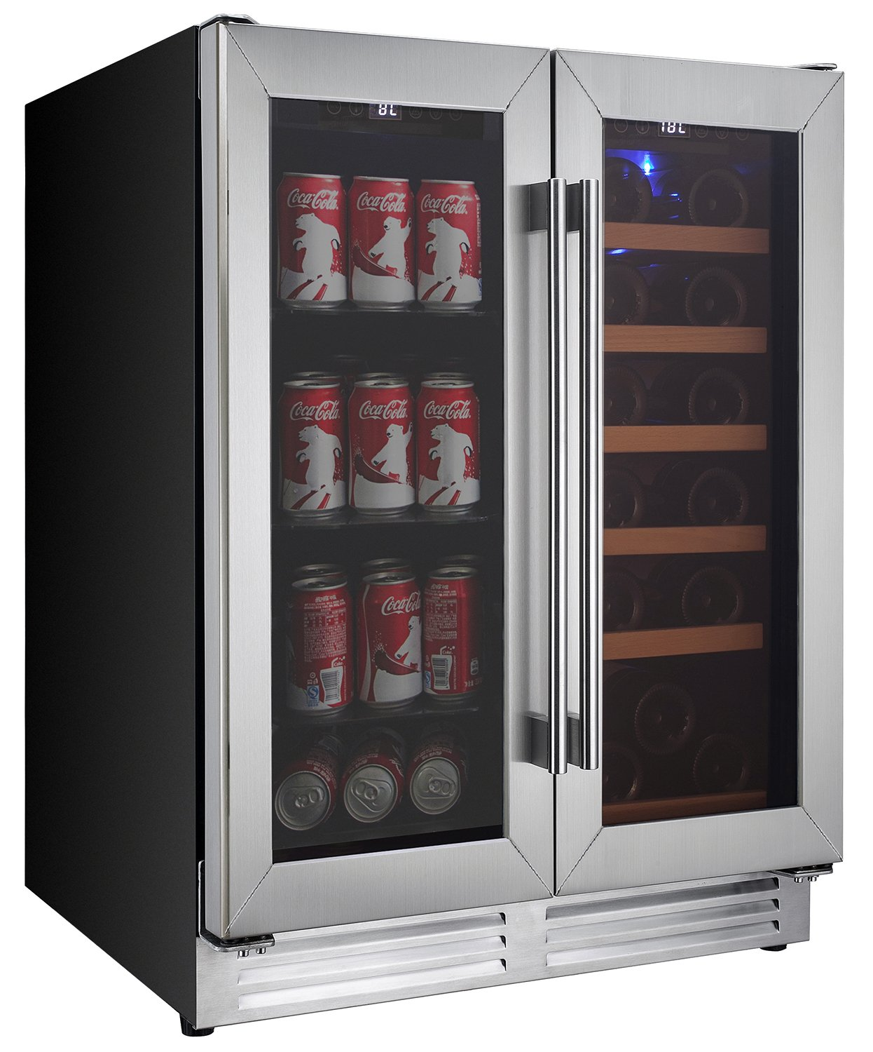 Koolatron KBBC22 DZ Built in Dual Zone Beverage Center Black
