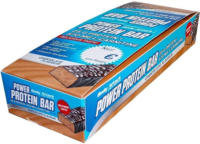 Barritas energéticas proteicas de Body Attack de caramelo de dulce de leche, 24 unidades de 35 g, (1 pack de 0,84 kg): Amazon.es: Salud y cuidado personal