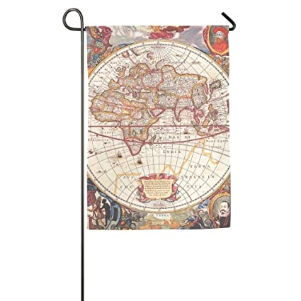 Amazon wear resistant world map funny patio yard house garden bright world map fall outdoor yard house garden flags 12 x 18 semi transparent polyester fiber gumiabroncs Image collections