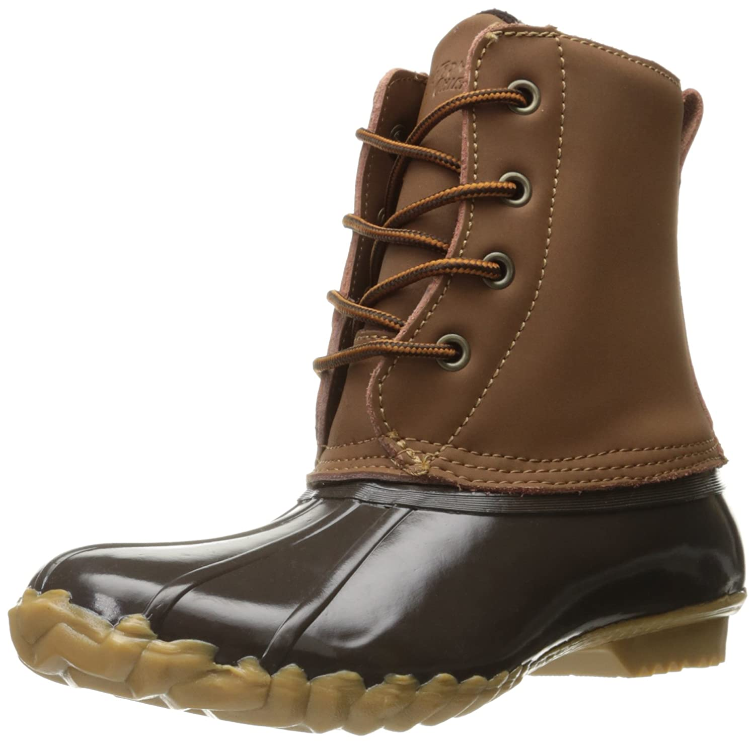 Western Chief Women Waterproof Four-Eye Lace-up Duck up B01EUI2RPI 8 B(M) US|Brown