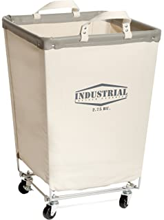 Nice Seville Classics Commercial Heavy Duty Canvas Laundry Hamper With Wheels