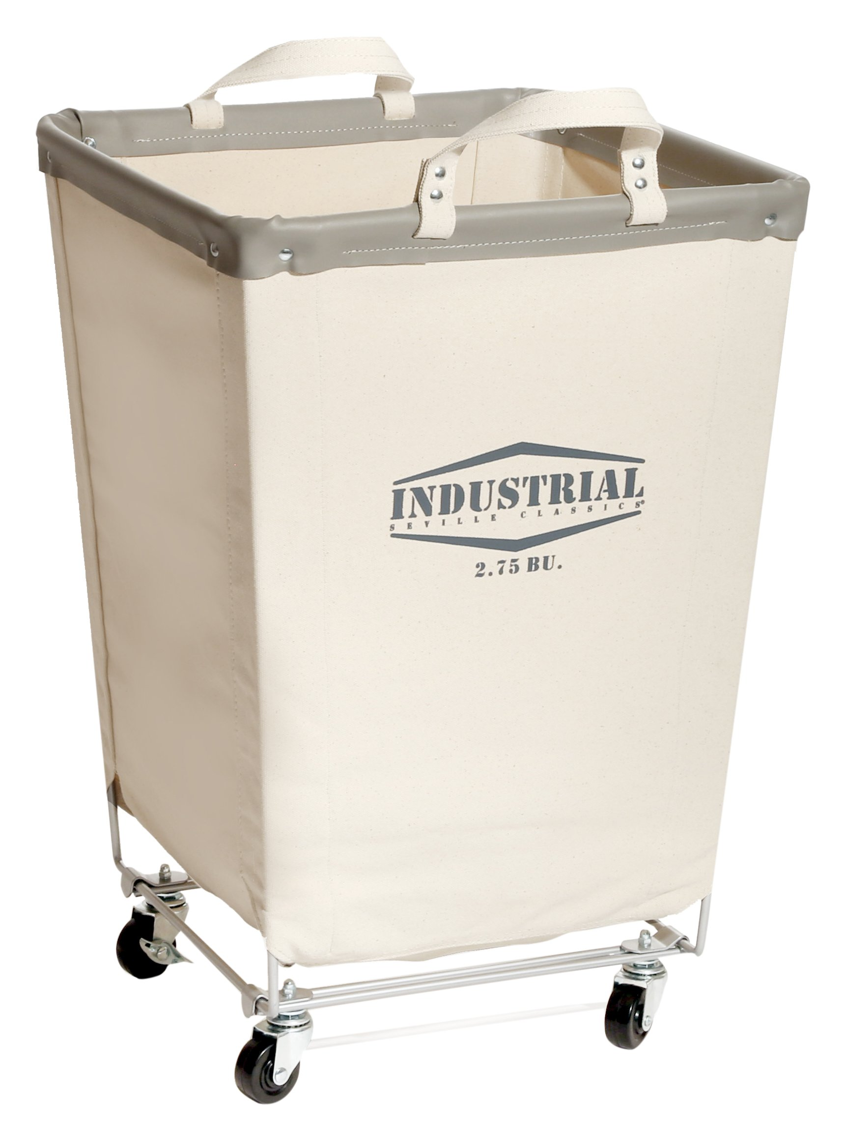 seville classics commercial heavy duty canvas laundry hamper with wheels ebay. Black Bedroom Furniture Sets. Home Design Ideas