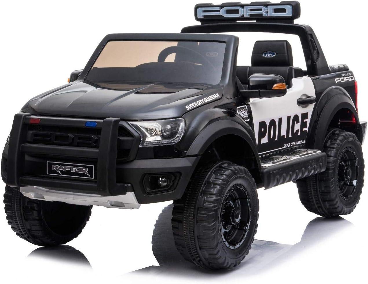 RIRICAR Electric ride on Police car Ford Raptor, EVA wheels